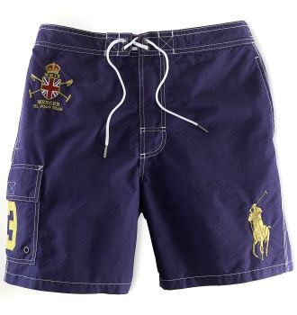 ralph lauren short de bain man-couronne blue,polo short de bain pas cher